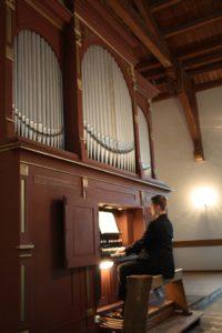 David Vogel an der Orgel Groß Gaglow